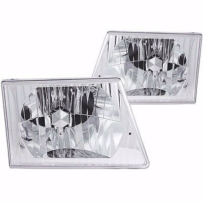 FLEETWOOD PACE ARROW 1996 1997 1998 1999 2000 HEADLIGHT CHROME LAMP RV - PAIR