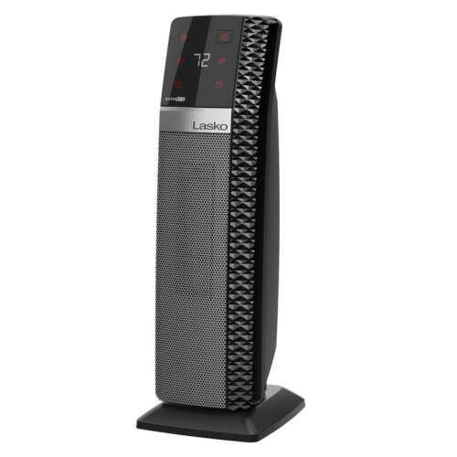 Lasko CT22445 Ceramic Tower Heater with Remote - Black(Open Box New)