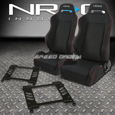 - NRG 2 TYPE-R RED STITCHES  RACING SEATS+BRACKET FOR 94-01 ACURA INTEGRA DB DC1/2
