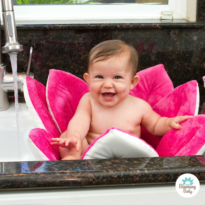 Blooming Bath Original Baby Bath, Bathing Mat, Flower Bath, Pink