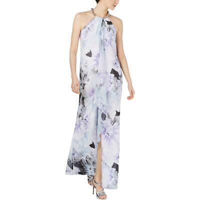 Calvin Klein Womens Beaded Halter Formal Evening Dress Gown BHFO 4567