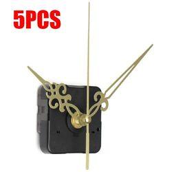 5Pcs Gold Hands Wall Quartz Clock Movement Mechanism Repair Parts Kit DIY Gift