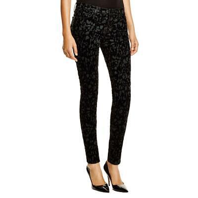 J Brand Women's Brocade Velvet Mid-Rise Super Skinny Pants