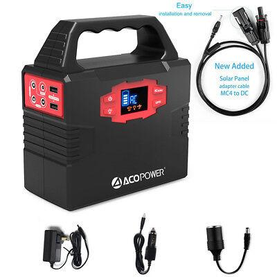 ACOPOWER 150Wh Portable Solar Generator Power Supply Energy Storage Lithium ion (Solar Portable Power)
