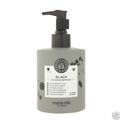 Maria Nila Colour Refresh Haarmaske mit Farbpigmenten Black 300 ml