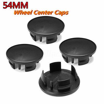 4X Ø54mm Black ABS Car Emblem Badge Wheel Rim Center Hub Caps For Mini Cooper