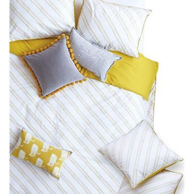 Jay St  Block Company West Elm 5276 Evans Yellow Pillow Sham Bedding Euro Bhfo