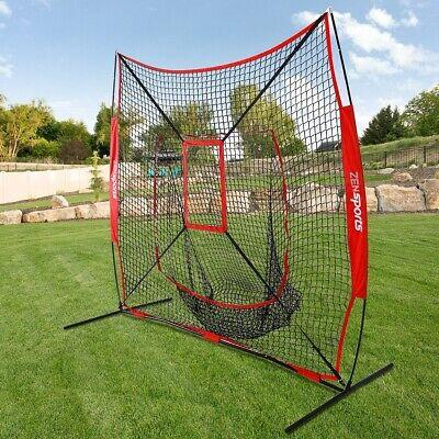 Net Package - Practice Net Baseball and Softball 7x7 Bundle with Strike Zone & Training Bag