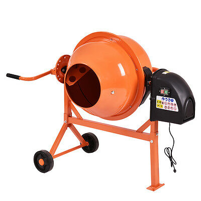 New Portable Electric Concrete Cement Mixer 2 15 Cubic Ft Stucco Mortar