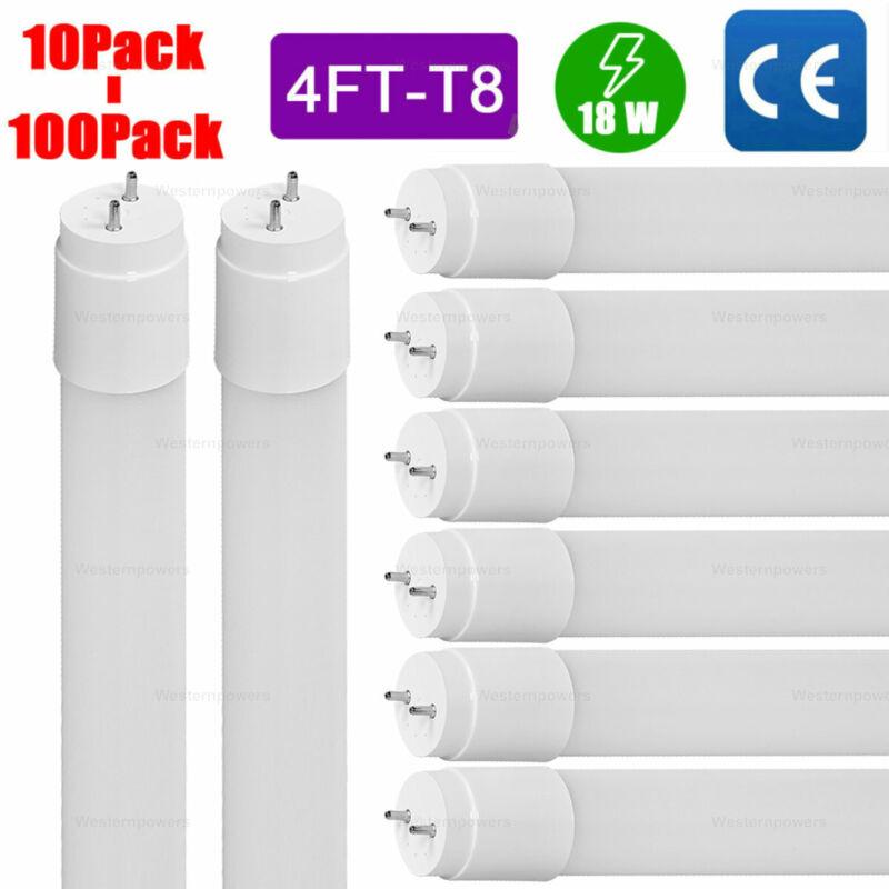 10-100 Pack 18W 48 inch 4ft LED Fluorescent Tube Light Bulb G13 T8 lamp fixture