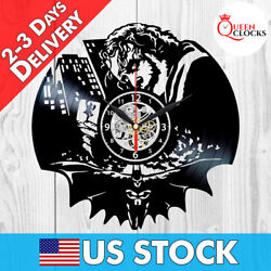 Joker Batman DC Comics The Dark Knight Vinyl Record Clock Gift Art Wall Decor