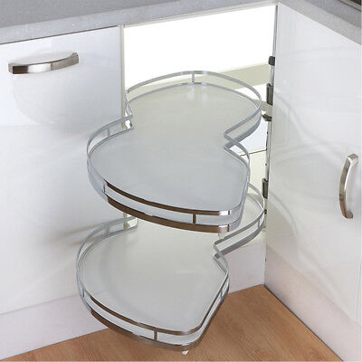 Kitchen Cabinet Blind Corner Pull Out Organizer Soft Close 2 Tiers Swing Tray