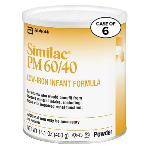 12 cans SIMILAC PM 60/40 Low-Iron Infant Formula 14.1 OZ Expiration 11/01/2021