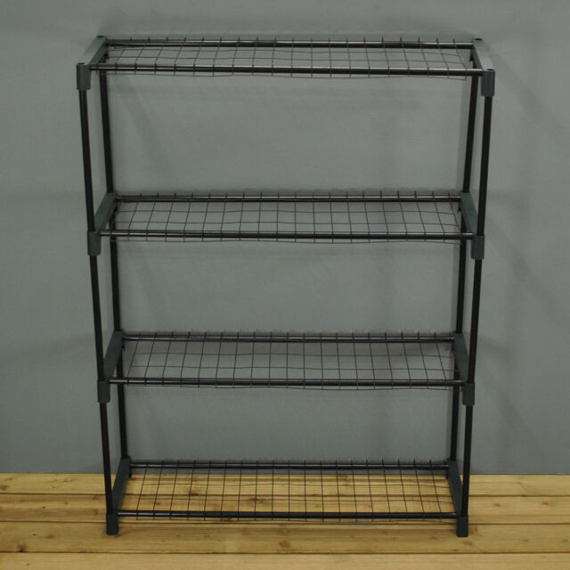 Kingfisher 4 Tier Steel Greenhouse Staging Shelving Plant Storage Shelves