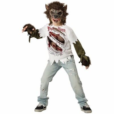 Deluxe Werewolf Child Costume - Werewolf Costume Childs Kids Boys Deluxe - Size 10 -