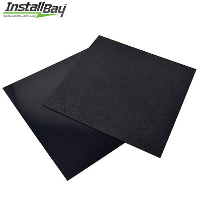2-pcs Textured Abs Plastic Plastic Sheet Smooth 12in X 12in X 316inch Black