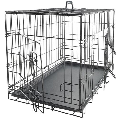 OxGord Double-Door Easy Folding Metal Wire Pet Kennel Crate