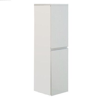 Mueble de baño AIGER blanco columna de lavabo suspendida armario auxiliar brillo