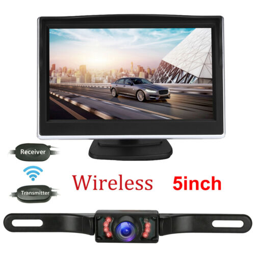 "5"" LCD Wireless Car Backup Camera Rear View Parking System Night Vision Monitor"