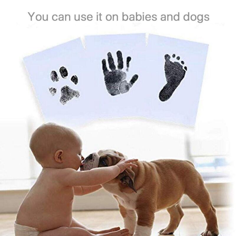 Baby Keepsake Footprint Handprint Shower Non-toxic Print Ink Pad Inkless Memory
