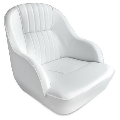 Leader Accessories Deluxe Bucket Boat Seat White/White piping