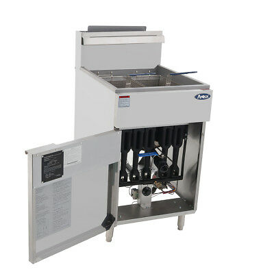 Atosa Atfs-75 Hd 75lb Ss Commercial Kitchen Natural Gas Deep Fryer
