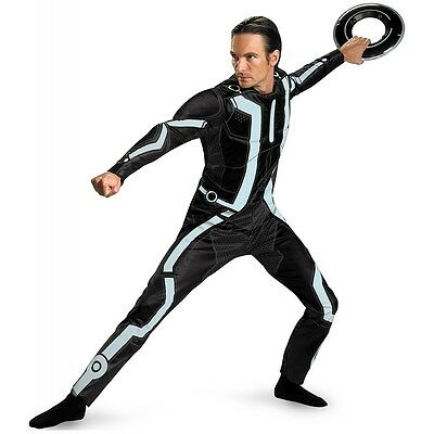 Tron Costume Adult Halloween Fancy Dress (Tron Costume)