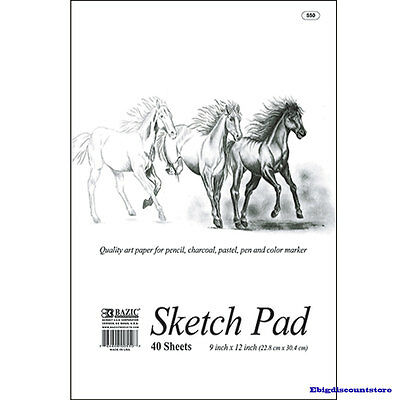 9 X 12 Inches 40 Sheets Premium Quality Sketch Book Paper Pad New