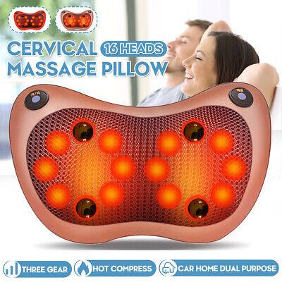Shiatsu Shoulder Neck and Back Massager Pillow W/ Heat Deep