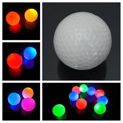 White Fluorescence Light-up Luminous Night light Glowing Golf Ball FO ()