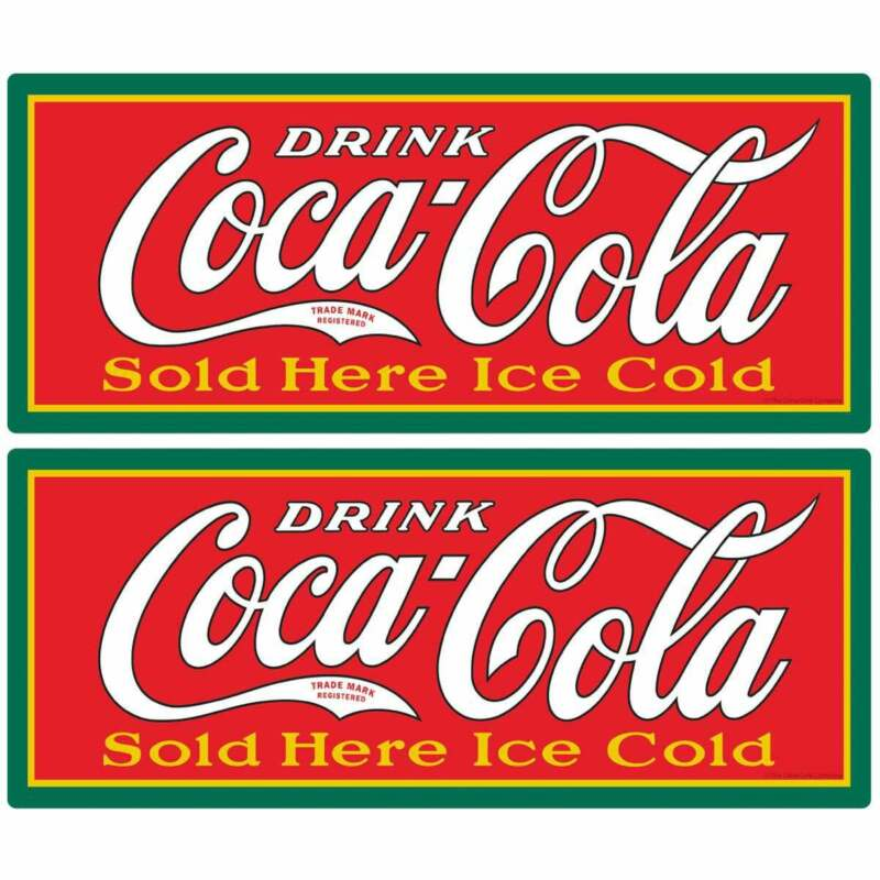 Coca-Cola Sold Here Ice Cold Decal Set Peel & Stick Wall Graphic