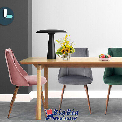2x Dining Chairs Velvet Fabric Cushion Home Kitchen Furniture Seat Modern Pink 9