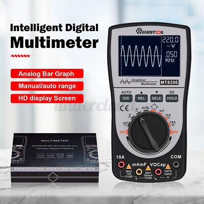 Upgraded Mustool Mt8206 2 In 1 Intelligent Digital Oscilloscope Multimeter Acdc
