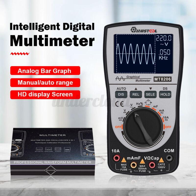 Upgraded MUSTOOL MT8206 2 in 1 Intelligent Digital Oscilloscope Multimeter AC/DC