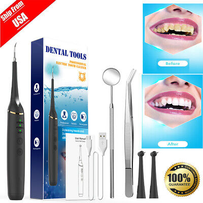 Tooth Stains Dental Scaler Tartar Calculus Plaque Remover Electric Sonic Us 2020