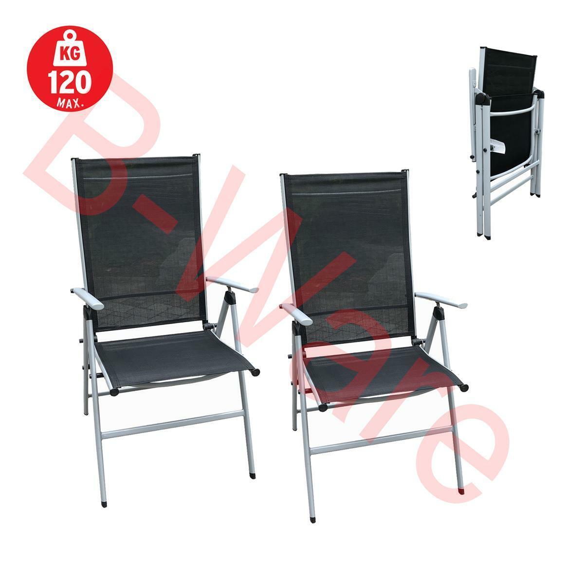 2er Set klappstuhl liegestuhl klappbar stuhl faltstuhl gartenstuhl campingstuhl
