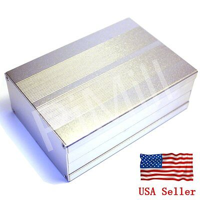 Aluminum Project Box Enclosure Case Electronic Diy 150x105x55mm Sliver Us Stock