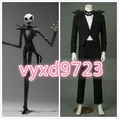 The Nightmare Before Christmas Jack Skellington Halloween Cosplay Costume