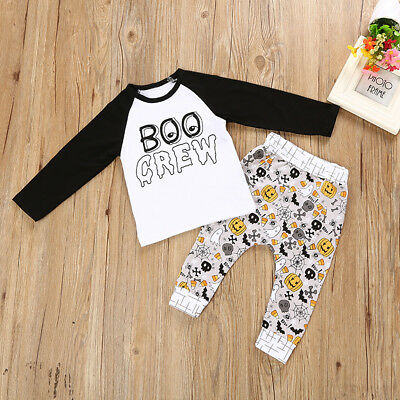 USA Halloween Toddler Baby Kids Girls Outfits T-shirt Tops Legging Clothes Set - Halloween Leggings Toddler