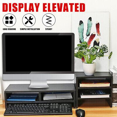 Desk Riser Computer Monitor Stand Wood Top Desk Shelf With Organizer Storage L