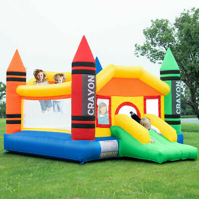 Inflatable Castle - New Inflatable Crayon Bounce House Castle Jumper Moonwalk Bouncer Without Blower
