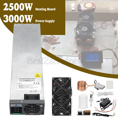 Us 2500w Zvs Induction Heating Board 24v 50a Power Supply Pump Copper Coil