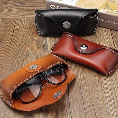 Cow Eye - Vintage Handmade Cow Leather Glasses Case Causal Jeans Belt Eye Glasses Box Bag
