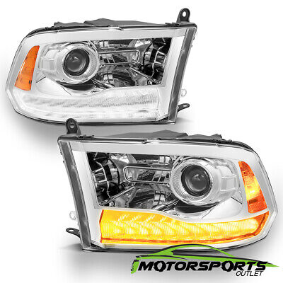 [Anti-Fog] 2009-2018 Dodge Ram 1500/2500/3500 LED DRL Projector Headlights