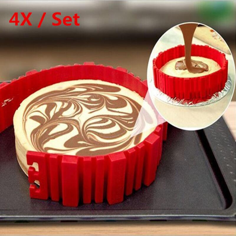 4x set silikon diy backform kuchen form schlange herz - Ebay kuchen ...