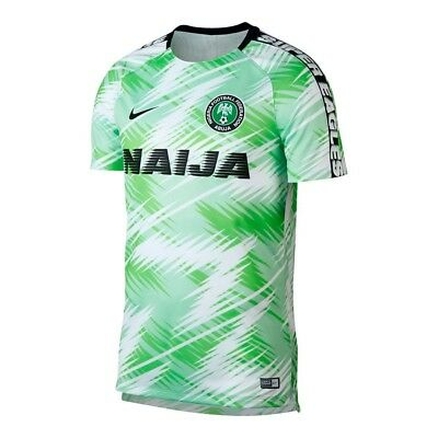 Nike Nigeria Anthem 2018 World Cup Tribute National Team Gx Dry Squad Jersey