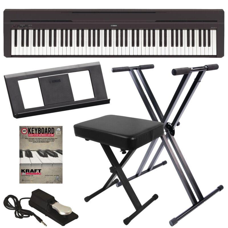 Yamaha P-45 Digital Piano - Black KEY ESSENTIALS BUNDLE