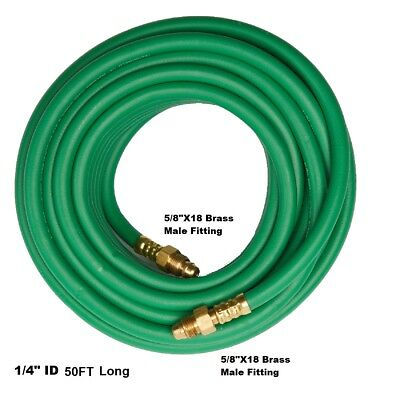 Argon Gas Hose For Migtig Flowmeter 14 50 58x18 Male Inret Hose Ah-50-g