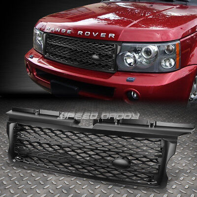 FOR 06-09 RANGE ROVER SPORT L320 BLACK ABS HONEYCOMB MESH FRONT HOOD GRILL GUARD