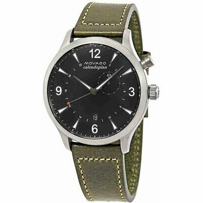 Movado 3650019 Men's Heritage Calendoplan Swiss Quartz Strap Watch